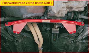 Wiechers 333002 Fahrwerkstrebe Stahl vorne unten für Opel Ascona C